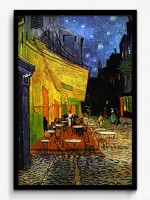 Seven Rays Vincent Van Gogh - The Cafe Terrace on the Place du Forum, Arles, at Night, c.1888 Framed (Small)(19 inch X 13 inch)