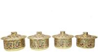 JK Vallabhdas Meenakari Basri Tope - Set Of 4 Pot 1 L with Lid(Aluminium)