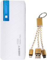 View Orbatt X8 Fast Charging  with 2in1 Small  Cable 13000 mAh Power Bank(Blue, White, Golden, Lithium-ion) Laptop Accessories Price Online(Orbatt)
