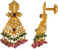 Joyalukkas Yellow Gold 22kt Stud Earring(Yellow Gold Plated)