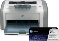 HP 1020 Plus Single Function Printer(White, Grey, Toner Cartridge)