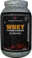 British Nutrition Platinum Standard Whey Protein(1 kg, Chocolate)