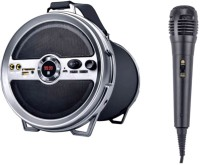 iball Karaoke Barrel With FM Radio enjoy Song For Children & in Party Bluetooth Speaker & Outdoor PA System(15 W)