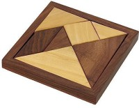 RoyaltyLane Handmade Wooden Tangram 7-Piece Jigsaw Puzzle Puzzle Games for Children Unique Kids Gifts(1 Pieces)