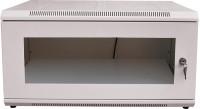 GoodsBazaar DVR Shelf with Locking System Inbuilt LED Light Sockets Switches & Power Cable White Metal Wall Shelf(Number of Shelves - 1, White)