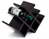 Home Sparkle Pyramid Wood Bottle Rack Cellar(Black, 8 Bottles)