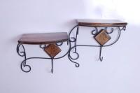 View Jk Handicraft Wooden Wall Shelf(Number of Shelves - 2) Furniture (jk handicrafts)
