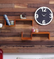 View Onlineshoppee Home Decor Wooden Wall Shelf(Number of Shelves - 2, Brown) Furniture (Onlineshoppee)