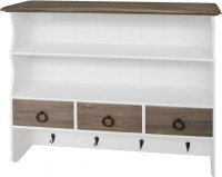 View The Attic Wooden Wall Shelf(Number of Shelves - 2, White) Furniture (The Attic)