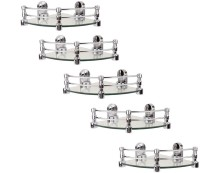 View RoyaL Indian Craft 8 By 8 Inch Queen Bracket (Pack of 5) Glass Wall Shelf(Number of Shelves - 5, Clear) Furniture (royaL indian craft)