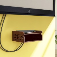 View Fabulo set top box holder MDF Wall Shelf(Number of Shelves - 2, Brown) Furniture (Fabulo)