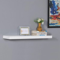 View DriftingWood Floating Storage Wooden Wall Shelf(Number of Shelves - 1, White) Furniture (DriftingWood)