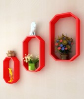 View Art Gallery MDF Wall Shelf(Number of Shelves - 3, Red) Furniture (Art Gallery)