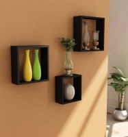 View Homey Essense Nesting Square MDF Wall Shelf(Number of Shelves - 3, Black) Price Online(Homey Essense)