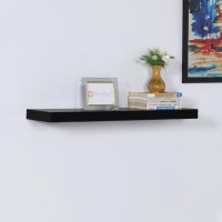 View DriftingWood Floating Storage Wooden Wall Shelf(Number of Shelves - 1, Black) Furniture (DriftingWood)