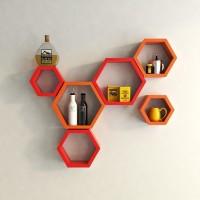 View jk handicrafts MDF Wall Shelf(Number of Shelves - 6) Furniture (jk handicrafts)