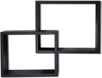 View Homey Essense Interlocking Floating Wall Shelves MDF Wall Shelf(Number of Shelves - 2, Black) Price Online(Homey Essense)