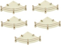 View RoyaL Indian Craft Craft Brass Bracket 8 By 8Inch Full Frosted (Pack of 5) Glass Wall Shelf(Number of Shelves - 5, White, Beige) Furniture (royaL indian craft)