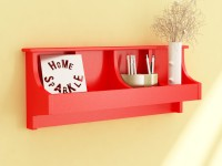 View Home Sparkle Pocket MDF Wall Shelf(Number of Shelves - 1, Red) Price Online(Home Sparkle)