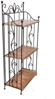 View Desi Karigar Wooden, Iron Wall Shelf(Number of Shelves - 3) Furniture (Desi Karigar)