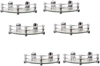 View RoyaL Indian Craft 8 By 8 Inch Queen Bracket (Pack of 6) Glass Wall Shelf(Number of Shelves - 6, Clear) Furniture (royaL indian craft)