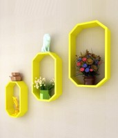 View Art Gallery Bronze Wall Shelf(Number of Shelves - 3, Yellow) Furniture (Art Gallery)