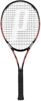 Prince Warrior 100 Black, Red Unstrung Tennis Racquet(G0 - 4 Inches, 300 g)