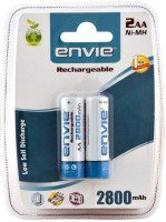 Envie 2 x AA 2800 mAh Ni-Mh Rechargeable Ni-MH Battery