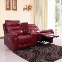View Evok Leatherette Powered Recliners(Finish Color - Red) Furniture (Evok)