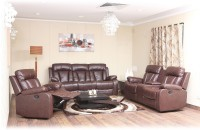 View Evok Magna Leather Manual Recliners(Finish Color - Brown) Price Online(Evok)