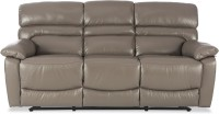 Durian Leather Manual Recliners(Finish Color - Light Grey)