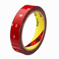 3M Car Scotch Double Sided Automotive Acrylic Foam 24 mm x 10 m Red Reflective Tape(Pack of 1)