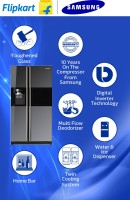 Samsung 585 L Frost Free Side by Side Refrigerator(Mirror,Glass, RS21HZLMR1/XT)