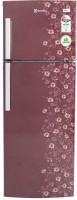 Electrolux 235 L Frost Free Double Door 2 Star Refrigerator(Maroon Daisy, EP242LMD)