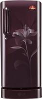 LG 235 L Direct Cool Single Door 5 Star Refrigerator with Base Drawer(Scarlet Lily, GL-D241ASLN)