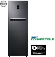 Samsung 321 L Frost Free Double Door 3 Star Refrigerator(Black Inox, RT34K3723BS/HL)