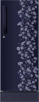 Haier 195 L Direct Cool Single Door 5 Star Refrigerator with Base Drawer(Blue Floral, HRD-2157PBD-R)