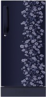 Haier 195 L Direct Cool Single Door 4 Star Refrigerator with Base Drawer(Blue Daisy, HRD-1954PBD-R/E)
