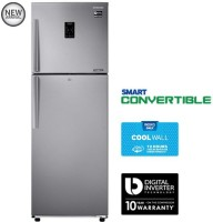 Samsung 272 L Frost Free Double Door 3 Star Refrigerator(EZ Clean Steel, RT30K3983SL)