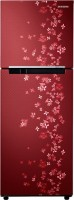 SAMSUNG 253 L Frost Free Double Door 2 Star Refrigerator(Sanganeri Ring Red, RT28K3082RY/NL)