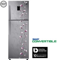 Samsung 253 L Frost Free Double Door 3 Star Refrigerator(Tender Lily Silver, RT28K3953SZ)