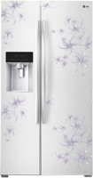 LG 567 L Frost Free Side by Side Refrigerator(Daffodil White, GC-L207GPQV)