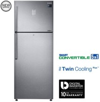 Samsung 465 L Frost Free Double Door 3 Star Refrigerator(EZ Clean Steel, RT47K6358SL)
