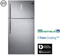 Samsung 637 L Frost Free Double Door Refrigerator(Grey/EZ Clean Steel/VCM, RT61K7058SL/TL)