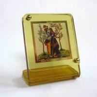 Sitare Radha Krishna Diviniti Gold Photo Religious Frame
