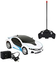 jasan Rechargeable RC BMW Scale Remote controlled Car With 3d Light White(White)