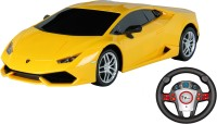 Toy House Officially Licensed 1:24 Lamborghini Huracan LP610-4 Rechargeable car with Gravity sensor steering Remote, Yellow(Yellow)