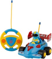 RVOLD Lovery Cartoon Formula F1 R/C Race Car with Steering Remote Control, Music and Lights Electric Radio Control Toy for Kids(Multicolor)