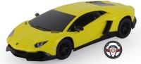 Toyhouse 1:24 Lamborghini Aventador Lp720-4 W Gravity Sensor Steering Rechargeable Rc Cary(Yellow)
