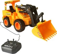 9 Perfect Wired Remote Control Battery Operated JCB Crane Truck Toy(Yellow)